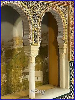 Antique Middle Eastern Islamic Enrique Linares Alhambra Granada Archway Window