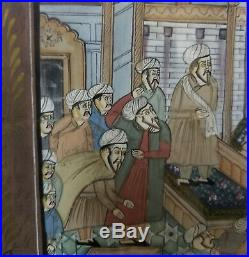 Antique Middle Eastern Islamic Turkish Miniature Painting Persian Arabic