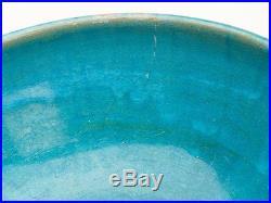 Antique Middle Eastern Kashan Turquoise Glaze Bowl 17/18 C