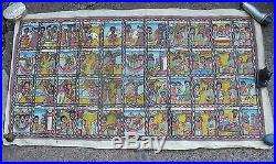 Antique Middle Eastern Painting On Canvas44 Stages Of Native Lifesigned
