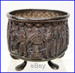 Antique Middle Eastern Turkish Persian Seljuk Silver Bowl Dish Ottoman Islamic