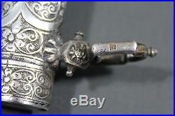 Antique Moroccan koumya (jambiya) dagger with solid silver scabbard Circa 1930