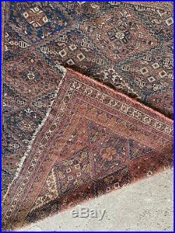 Antique Nice Worn Patina Traditionally Middle Eastern rug Oriental 132.5 x 163cm