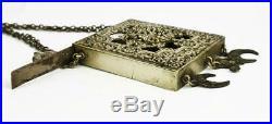 Antique OTTOMAN EMPIRE ISLAMIC SILVER PLATED SCRIPTURE BOX c1900
