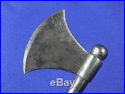Antique Old 19 Century Middle Eastern East Metal Battle Axe Hatchet