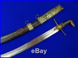 Antique Old Middle Eastern East 19 Century Shamshir Sword with Scabbard
