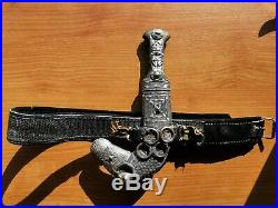 Antique Old Omani Islamic Silver Jambiya Khanjar Curved Dagger Special Horn