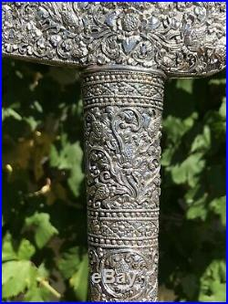 Antique Old Silver Dagger Khanjar Persian Islamic Middle Eastern Knife Sword 19