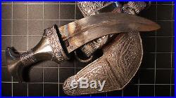 Antique Omani Silver Khunjar with T-Shape HORNHilt Muscat Design SUPERB