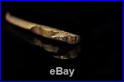 Antique Original Perfect Arabian Islamic Iron Silver Decorated Small Dagger