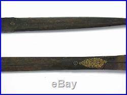 Antique Ottoman Calligraphy Calligraphers Scissors Gold Damascene 2 Pairs