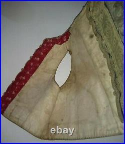 Antique Ottoman Gold & Silver Thread Yelek Vest Jacket Balkan Childs Vintage