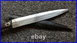Antique Ottoman Islamic Caucasian Kinjal Dagger Knife Sword Bovine Horn Grip