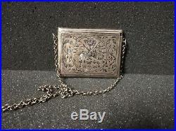 Antique Ottoman Turkish Silver Niello Quran Case Amulet Reliquary