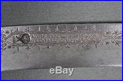 Antique Ottoman yatagan (yataghan) sword with silver mount First half 19th