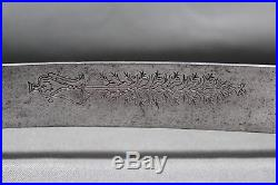 Antique Ottoman yatagan (yataghan) sword with silver mount First half 19th