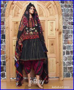 Antique Pakistan Afghanistan ethnic nuristan kohistan embroidered Dress jumlo N3
