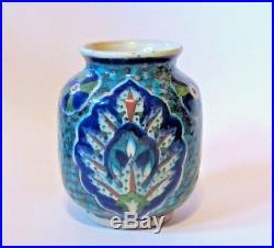 Antique Palestine Jerusalem Armenian Iznik Pottery Vase
