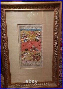 Antique Persian 10TH CENTURY FIRDOUSI Shahnama WATERCOLOR BOOK OF KINGS
