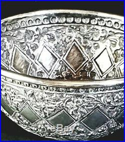 Antique Persian Indian Silver Bowl Islamic Moghul period
