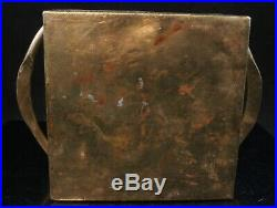 Antique Persian / Iznik Pottery Tile Brass Tray