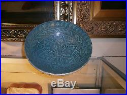 Antique Persian Kashan Turquoise Bowl 12th / 14th Century Iran Islamic Museum