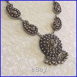 Antique Persian Middle Eastern 800 Sterling Silver Necklace