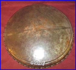 Antique Persian Middle Eastern Tinned Copper Tray