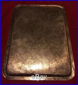 Antique Persian Qajar Solid Silver 84 Tray 19th Century