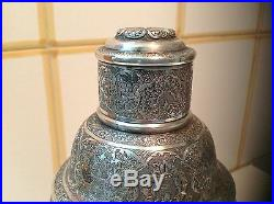 Antique Persian Sterling silver Cocktail shaker French hallmarks 467 gram m1086