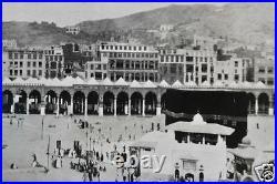 Antique Photo Mecca Makkah Kaaba Saudi Arabia Islam Hajj Hejaz Black White 1924