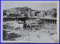 Antique Photo Mecca Makkah Kaaba Saudi Arabia Islam Hajj Hejaz Black White 1930