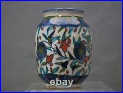 Antique Post Ottoman Armenian Ceramic Jerusalem Kütahya Vase David Ohannessian