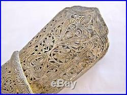 Antique Scabbard Silver Yemen Saudi Arabia Islamic Dagger Sword Jambiya Khanjar