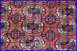 Antique Signed Room Size Bokhara Wood Rug, Fine Quality, No Reserve