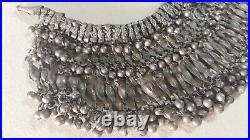 Antique Silver Bib Necklace Bedouin Tribal Yemen/ Yemenite Ethenic Choker