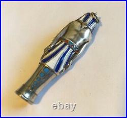 Antique Silver Egyptian Revival Drop/Pendant Enamel Piece