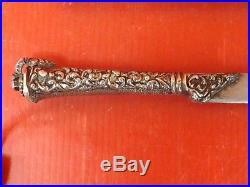 Antique Silver Kindjal Russian Turkish Knife Dagger Islamic Ottoman. Signed