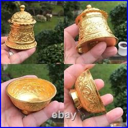 Antique Style Islamic Arabic Monarchs Oman 22ct Gold Tea Caddy Box + Suger Bowl