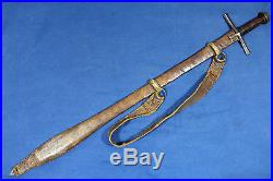 Antique Sudanese Kaskara sword with Solingen blade Sudan 18th 19th