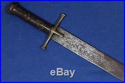 Antique Sudanese short Kaskara sword (sabre dagger) Sudan 18th 19th
