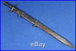 Antique Sudanese short Kaskara sword (sabre dagger) Sudan 19th
