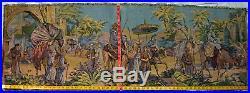 Antique Tapestry Arabian Middle Eastern Camel Dessert Palm Caravan from Belgium