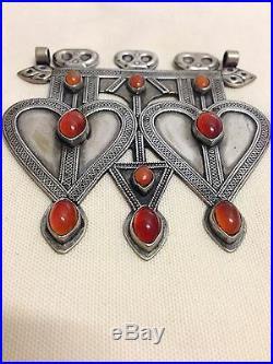 Antique Tekke Turkoman Asyk Pendant Rare Silver