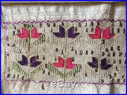 Antique Turkish Ottoman Embroidery Textile With Metal Work