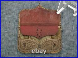 Antique Turkish Ottoman Islamic Embroidery Silver Embroidered Coins Wallet