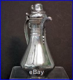 Antique Turkish Ottoman Islamic Solid Silver Coffee Pot Muslim Osmanli Kahvedan