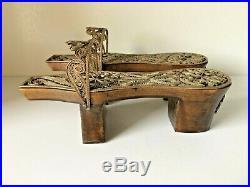 Antique Turkish Ottoman Wooden Silver Copper Child Bath Slipper