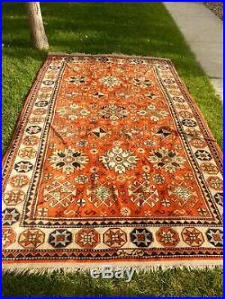 Antique Vintage Middle Eastern SIGNED Rug Carpet Wool 6x9' Master Weaver