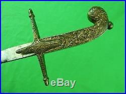 Antique Vintage Old Middle Eastern East Shamshir Sword with Scabbard